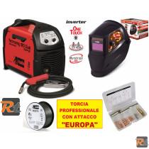 Saldatrice Telwin Technomig 180 Dual synergic EURO completa di accessori - TELWIN