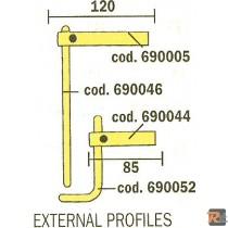 XA3 BRACCI + ELETTR. PER PROFILI ESTERNI cod. 803158 - TELWIN
